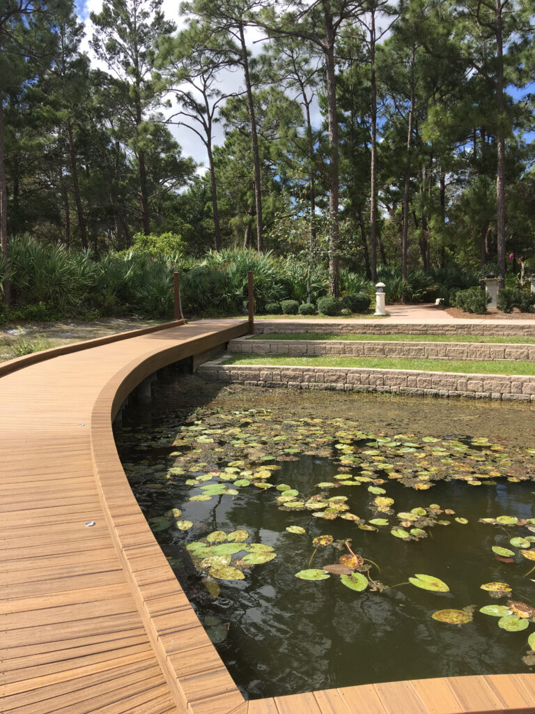 Paver Installation By The Pond