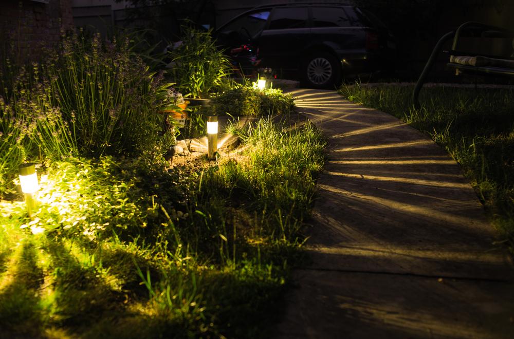 Landscape Lighting On Garden Steps