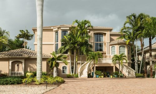 Florida Home With Paver Installed