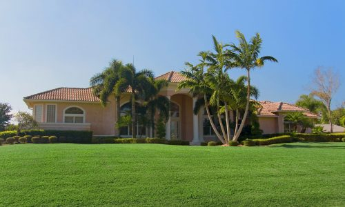 Florida Home With Wide Front Lawn